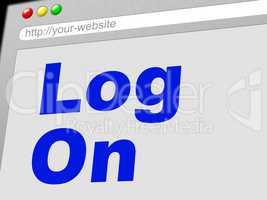 Log On Indicates World Wide Web And Enter