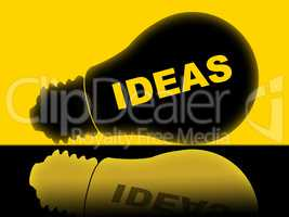 Ideas Lightbulb Indicates Bright Conception And Innovations