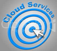 Cloud Services Represents Network Server And Advice