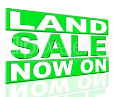 Land Sale Shows At This Time And Clearance