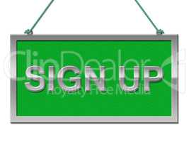 Sign Up Shows Admission Display And Apply