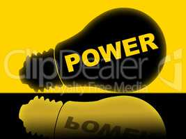 Power Lightbulb Represents Energy Energize And Powered