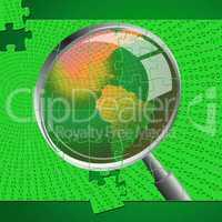 Magnifying Glass Indicates Check Up And Checkup