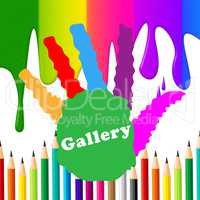 Kids Gallery Shows Paint Colors And Artwork
