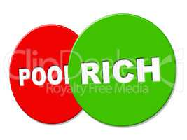 Rich Sign Represents Treasure Wealthy And Finance