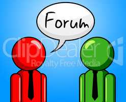 Online Forum Represents Social Media And Communication