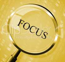 Focus Magnifier Indicates Aim Concentration And Research