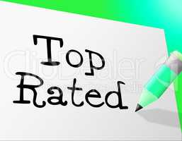 Top Rated Means Number One And Best