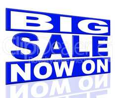 Big Sale Represents At The Moment And Closeout