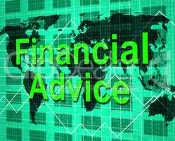 Financial Advice Indicates Help Answers And Earnings