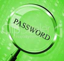 Password Magnifier Means Log In And Account