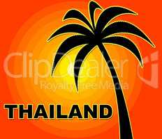 Thailand Holiday Indicates Go On Leave And Asia