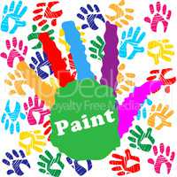 Kids Paint Shows Child Human And Creativity