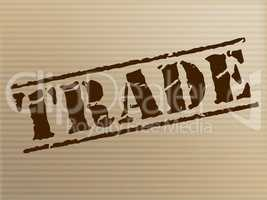 Trade Stamp Represents Ecommerce Commerce And Buying