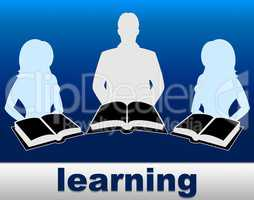 Learning Books Shows School Training And Fiction