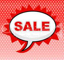 Sale Sign Means Display Save And Promotional