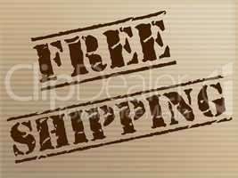 Free Shipping Shows With Our Compliments And Courier