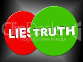 Truth Sign Indicates No Lie And Correct