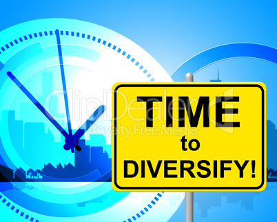Time To Diversify Represents At The Moment And Currently