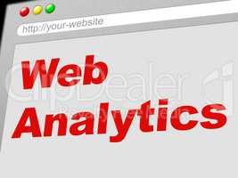 Web Analytics Represents Report Online And Collection