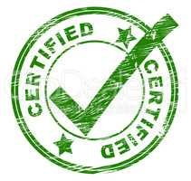 Certified Stamp Means Promise Ratify And Authenticate