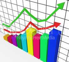Graph Increasing Represents Marketing Profitable And Improve