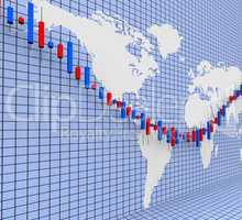 Stocks Graph Shows World Wide And Finance