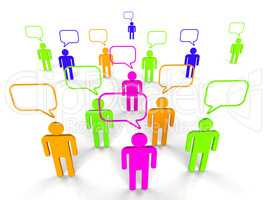 People Communicating Represents Network Server And Communication