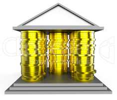 House Mortgage Represents Borrow Money And Building