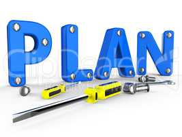 Make A Plan Represents Suggestion Programme And Proposition