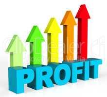 Increase Profit Represents Rising Upward And Raise