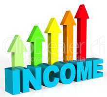 Increase Income Represents Advance Hiring And Growing