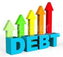 Increase Debt Indicates Financial Obligation And Debts
