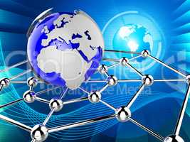 Worldwide Network Indicates Global Communications And Communicat