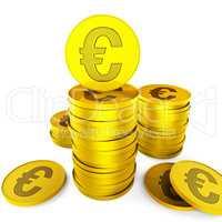 Euro Savings Represents European Euros And Money