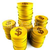 Dollar Savings Indicates American Dollars And Bank