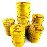 Pound Savings Indicates Monetary Capital And Prosperity
