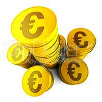 Euro Savings Shows Euros Saved And European