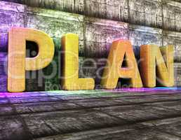 Plan Word Indicates Proposal Mission And Tasks