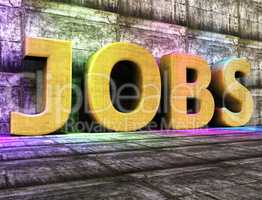 Jobs Word Represents Hiring Hired And Recruitment