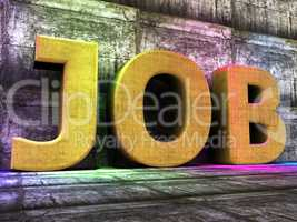 Job Word Represents Employ Me And Hire