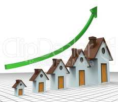 House Prices Increase Means Return On Investment And Amount