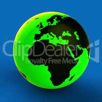 Europe Africa Globe Shows World Countries And Globally