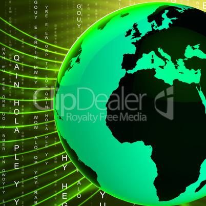 Europe Africa Globe Indicates Globally Global And European