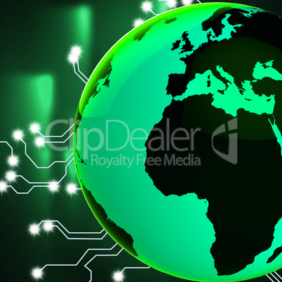 Europe Africa Globe Represents Globalisation Globalize And Count