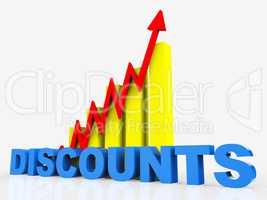 Big Discount Indicates Cut Rate And Data