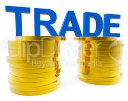 Increase Trade Indicates Grow Money And Export