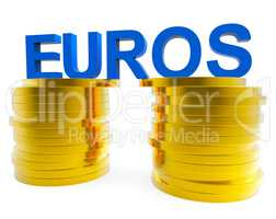 Euro Savings Shows Monetary Currency And Finances