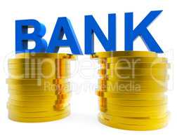 Bank Savings Shows Progress Finances And Wealthy