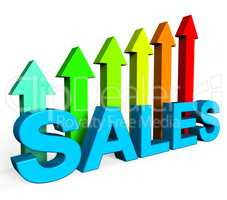 Sales Increasing Indicates Progress Report And Data